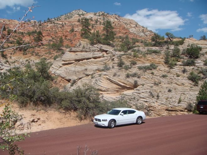 USA Mietwagen: Dodge Charger (Modell 2010) im Zion National Park
