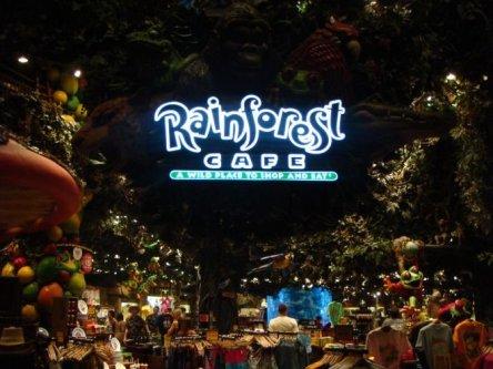 Das Rainforest Cafe im Herzen des MGM Grand Hotel.