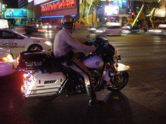 Die Las Vegas Police auf Motorradstreife
