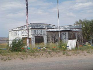 Alte verlasene Häuser am Wegesrand der Route 66.