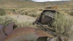 Vergammelte Autowracks in Bodie