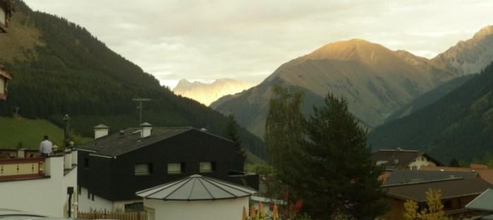 Hotelblick auf Zugspitze
