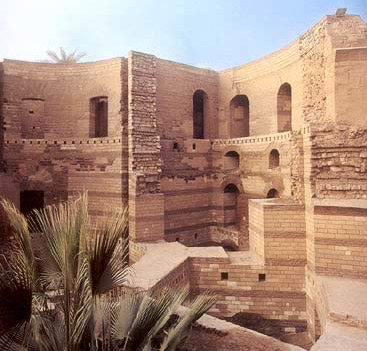 The southern tower of Babylon's Roman wall