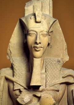 A Statue of Akhenaten now in the Egyptian Museum