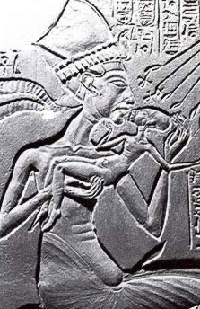 Akhenaten in an exaggerated form