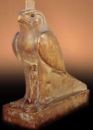 Horus as a realistic falcon