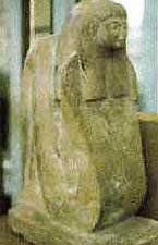 Statue of Meretseger, With the Head of a Woman and Body of a Snake