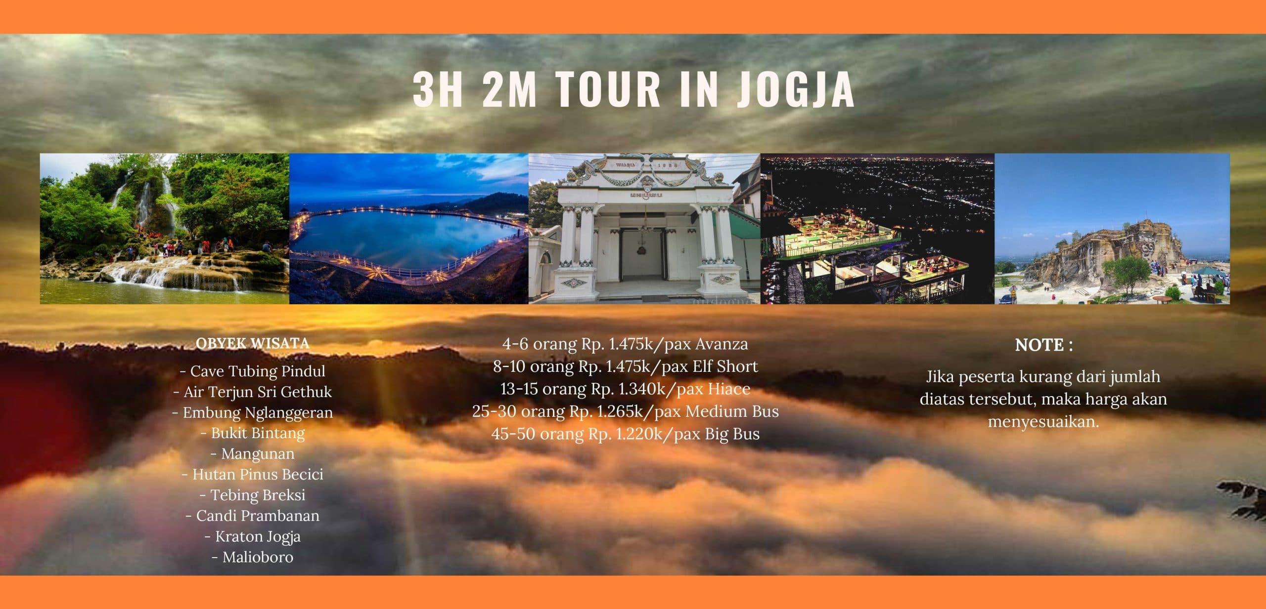 Paket Tour Yogjakarta 3H2M