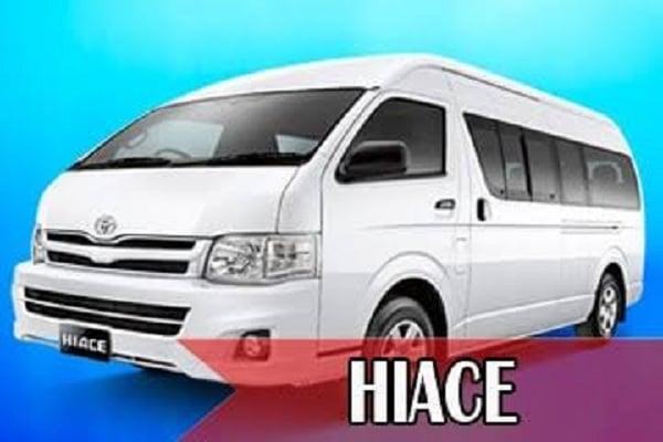 Rental Mobil Hiace di Yogyakarta