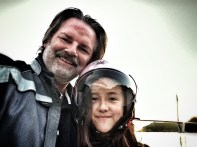 Father-daughter selfie