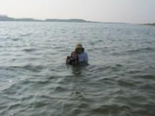 My Girls in the Gonogawa river