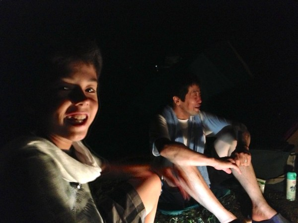 Around the campfire with fellow campers