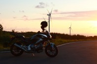 NC700X & Windmills at Sunset 2