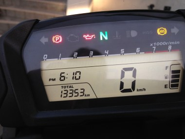 Started at 9,988 km. 3,365 total