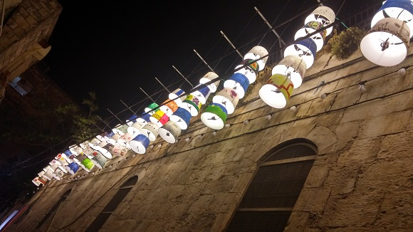 Touring Israel - jerusalem light festival 2015 lamps by children lg mobile by deena levenstein