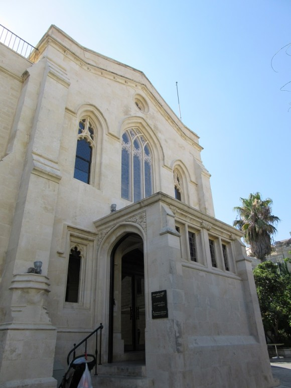 christ church from the outside, old city jerusalem, photo by deena levenstein