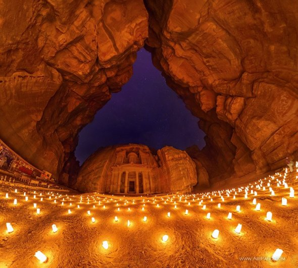 Touring Israel - Petra at night