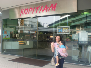 Days after the trip, Aria repeatedly said upon waking up that she will have breakfast at Kopitiam. Talk about hangover!