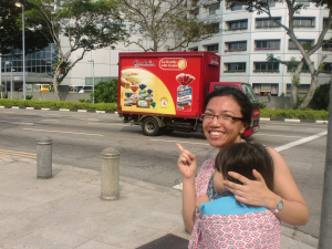 Here it is! A Gardenia truck in Singapore.