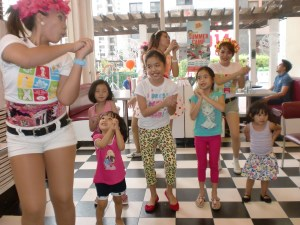 Kids join in the fun. My Aria would not miss the dancing, and eventually joined in again after eating.