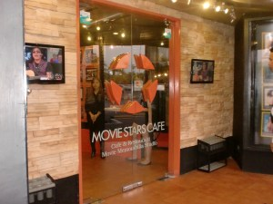 Movie Stars Cafe welcomes you with this door.