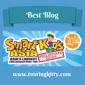 Yes, you've read it right! Touringkitty was declared Best Blog by Smart Kids Asia--Philippines 2014!