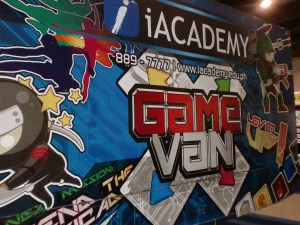 This Game Van is a mobile arcade! Was not able to take a peek inside though, as the inside was filled to the brim.