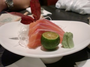 Wafu Salmon Sashimi. Fresh and yummy.