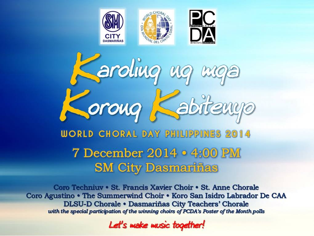 PCDA Celebrates World Choral Day!