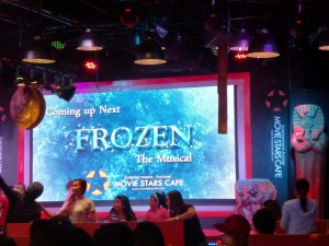 Frozen the Musical on Movie Stars Cafe! Not to be missed this cold Christmas season!