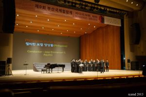 This is the competition he was talking about--the Busan Choral Festival and Competition. Photo credit: Raul Supnet.