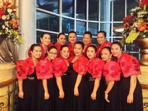 Women power: the ladies of Pag-Ibig Fund Chorale. Jennifer is first from left, bottom row.