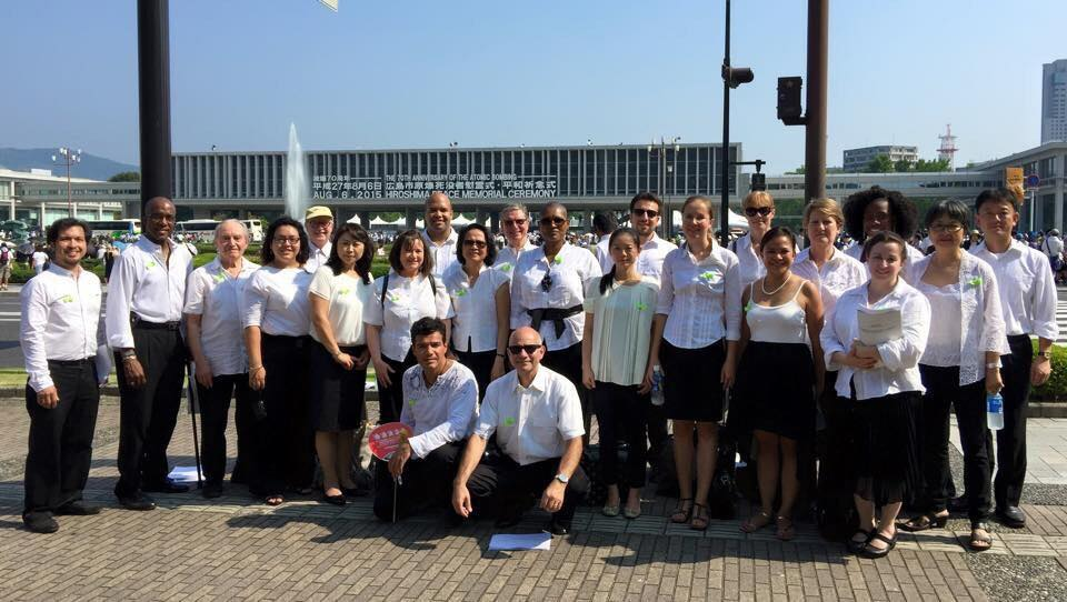The United Nations Singers in their most recent performance in Hiroshima, Japan, August 2015.