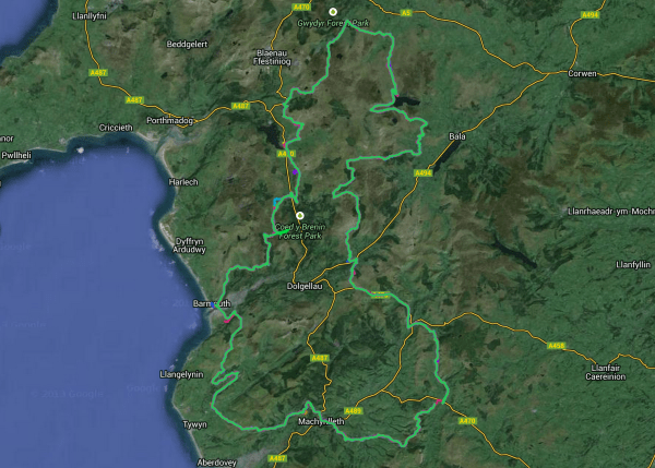 Here is the route for the 2014 Bear Bones 200, which vaguely resembles a massive cock and balls. The theme was certainly apparent by the time we reach the northern most tip!