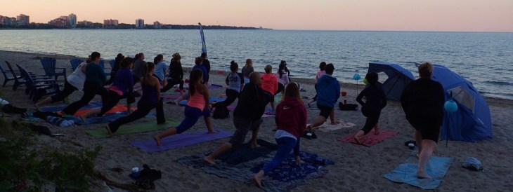 Yoga on the Beach - Burlington Beach Rentals