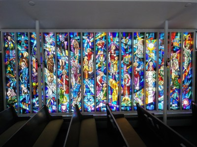Holy Cross stain glass