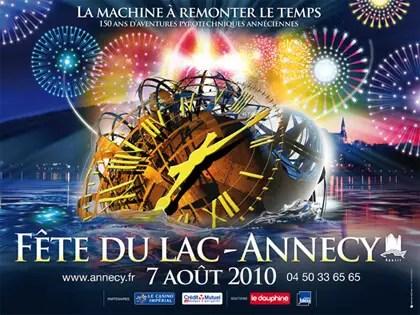 Fête du lac 2010 à Annecy : La machine à remonter le temps – 150 ans d'aventures pyrotechniques annéciennes