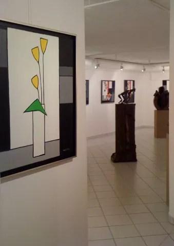 montillo, vue de la galerie de l'artiste