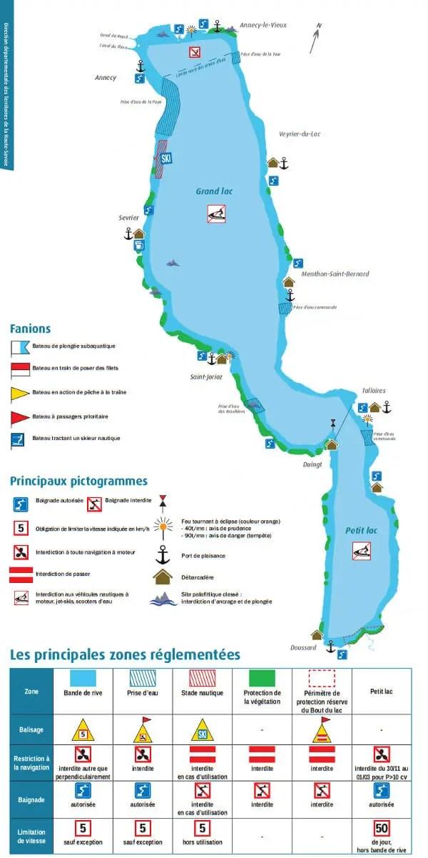 Navigation sur le lac d'Annecy