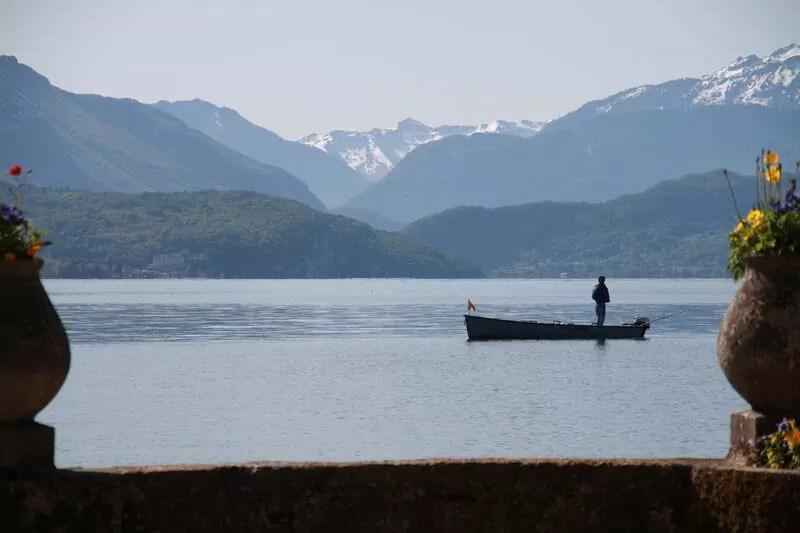 Pêche au lac d'Annecy