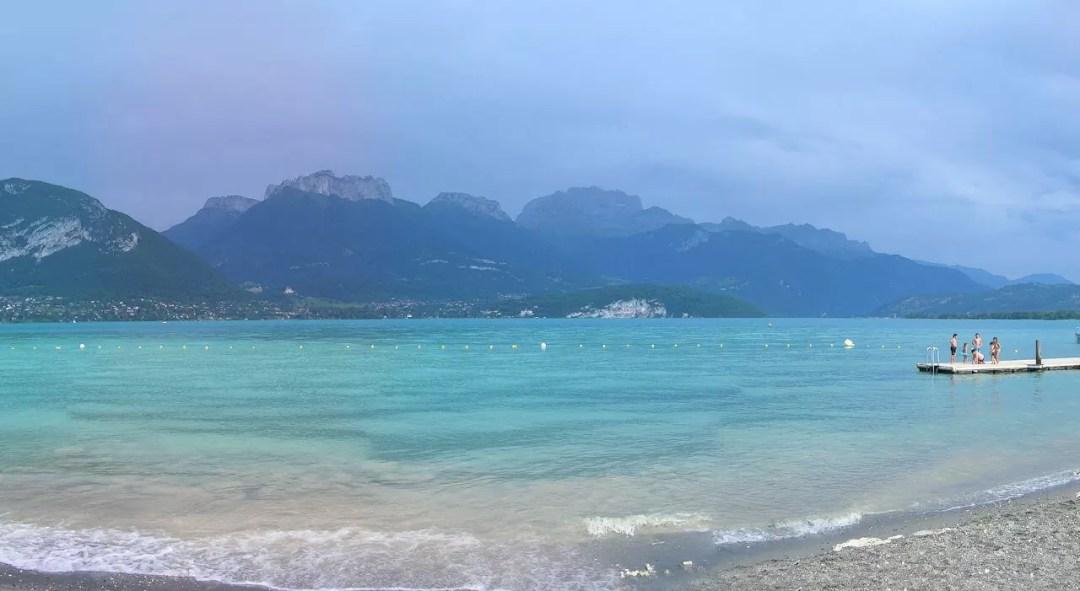 Lac d'Annecy après l'orage