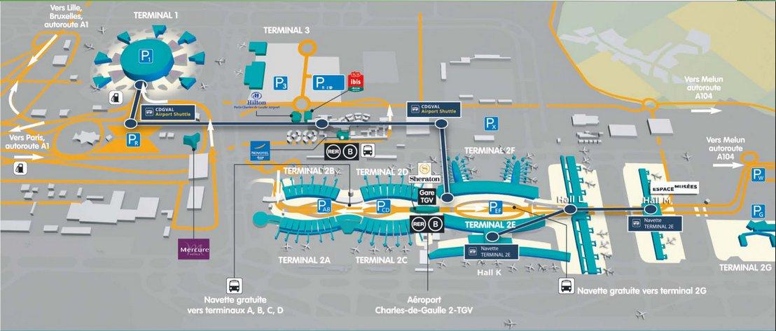 Roissypole Bus Station Roissy Cdg Paris