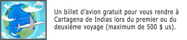 Billet d'avion gratuit pour Cartagena