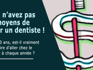 Pas moyen de payer le dentiste