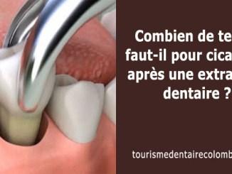 Temps de cicatrisation après extraction dentaire