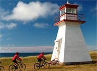 Vélo au Cap Alright, Havre-aux-Maisons, Îles de la Madeleine