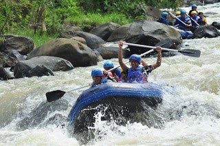 whitewater rafting in Indonesia