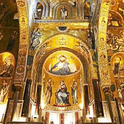 Cappella con Cristo Pantocratore all'interno del Palazzo dei Normanni a Palermo