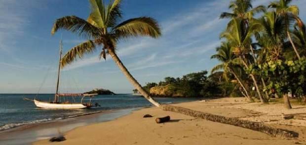 Beach at Sao Tome Island