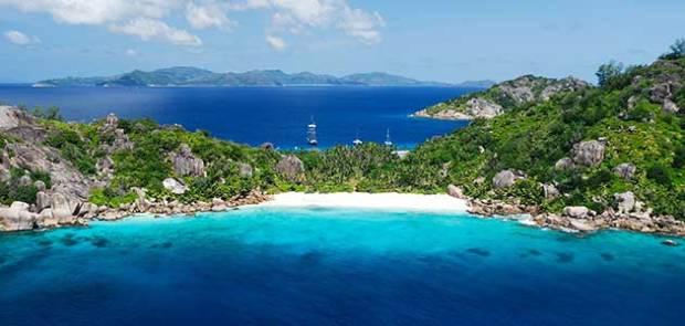 Grande Soeur bay in Seychelles